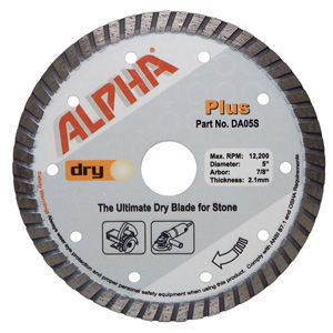 Alpha Plus Turbo Premium Dry Diamond Blades