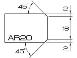 "ADI UHS Profile AR20 2cm 20 Series CNC Profile Wheels 20mm dia. 1/2"" Gas"