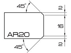 ADI UHS Profile AR20 2cm 80 Series CNC Profile Wheels A=45