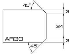 "ADI UHS Profile AR30 3cm 20 Series CNC Profile Wheels 20mm dia. 1/2"" Gas"