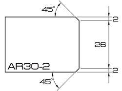 ADI UHS Profile AR30-2 3cm 80 Series CNC Profile Wheels A=45