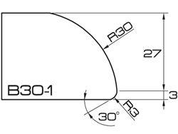ADI UHS Profile B30-1 3cm 120 Series CNC Profile Wheels R=30mm
