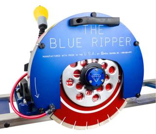 "Omega Blue Ripper Sr. with 92"" and 148""Rails 14"" Capacity, 5HP, 220V, 22 Amp"