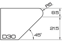 ADI UHS Profile D30 3cm 120 Series CNC Profile Wheels R=5mm