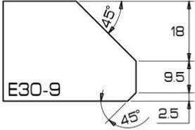 ADI Express 80 Series Profile Wheels E30-9 35mm Bore Position 5