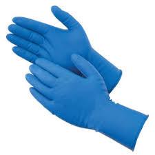 Blue Nitrile Disposable Gloves 6mil Medium