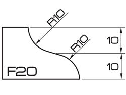 ADI UHS Profile F 2cm 120 Series CNC Profile Wheels