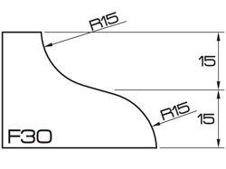 ADI UHS Profile F 3cm 120 Series CNC Profile Wheels