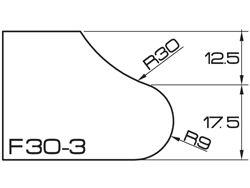 ADI UHS Profile F3 3cm 120 Series CNC Profile Wheels