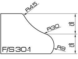 ADI UHS Profile FS30-1 3cm 120 Series CNC Profile Wheels R=45mm