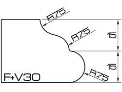 ADI UHS Profile FV 3cm 120 Series CNC Profile Wheels