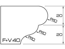 ADI UHS Profile FV 4cm 120 Series CNC Profile Wheels