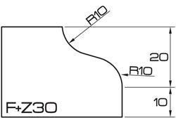 ADI UHS Profile FZ30 3cm 80 Series CNC Profile Wheels R=10mm