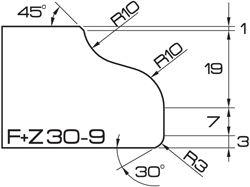 ADI UHS Profile FZ30-9 3cm 120 Series CNC Profile Wheels R=10mm