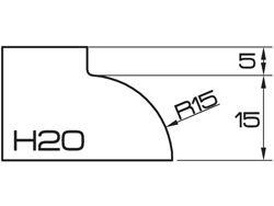 ADI UHS Profile H 2cm 120 Series CNC Profile Wheels