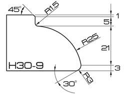 ADI UHS Profile H30-9 3cm 120 Series CNC Profile Wheels
