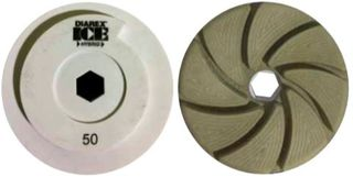 Diarex ICE Hybrid Combo Wheel, 100 Grit 130mm Diameter Snail Lock