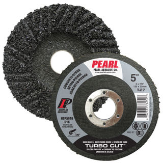 "5"" x 7/8"" Pearl SC Turbo Cut Hard Back Discs"