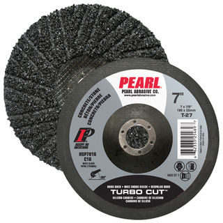 "7"" x 7/8"" Pearl SC Turbo Cut Hard Back Discs"