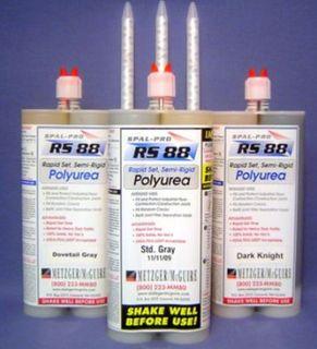 RS-88 Rapid Set Polyurea 600ml Cart Dovetail Gray