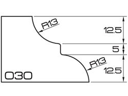 ADI Express 120 Series Profile Wheels O30 35mm Bore Position 5