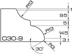 ADI Veloce Profile O30-9 3cm CNC Profile Wheels 120mm dia. R=13mm