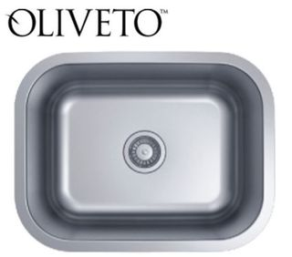 "Oliveto Stainless Steel Sink 21""x 15 3/4"" x 7"" Deep"