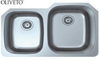 Oliveto Stainless Steel Sink 16 Ga 40/60