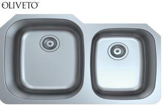 Oliveto Stainless Steel Sink 16 Ga 60/40