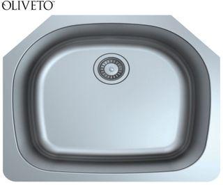 Oliveto Stainless Steel Sink 18 Gauge Large Single D Bowl