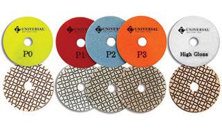 Pulsar Universal 5-Step Wet/Dry Diamond Polishing Pads