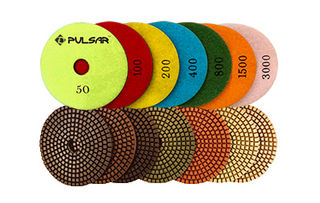 5-Inch Pulsar Wet Polishing Pads