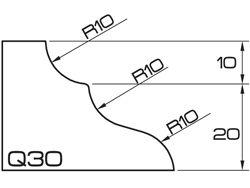 ADI UHS Profile Q30 3cm 120 Series CNC Profile Wheels R=10mm