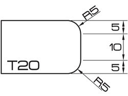 ADI UHS Profile T20 2cm 80 Series CNC Profile Wheels R=5mm