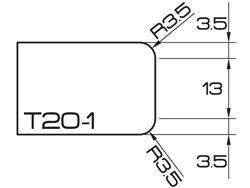 ADI UHS Profile T20-1 2cm 80 Series CNC Profile Wheels R=3.5mm