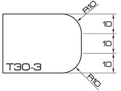 ADI UHS Profile T 3cm 120 Series CNC Profile Wheels R=10mm