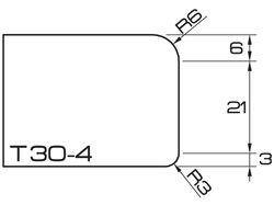 ADI UHS Profile T30-4 3cm 80 Series CNC Profile Wheels R=6mm