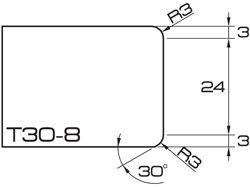 ADI UHS Profile T30-8 3cm 80 Series CNC Profile Wheels R=3mm