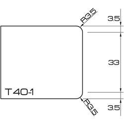 ADI UHS Profile T40-1 4cm 80 Series CNC Profile Wheels R=3.5mm