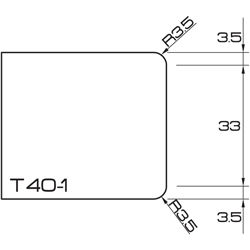 ADI UHS Profile T40-1 4cm 120 Series CNC Profile Wheels R=3.5mm