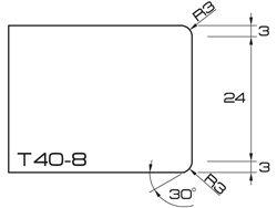 ADI UHS Profile T40-8 4cm 80 Series CNC Profile Wheels R=3mm