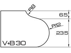 ADI UHS Profile VB 3cm 120 Series CNC Profile Wheels