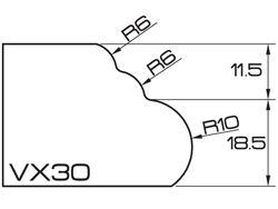 ADI UHS Profile VX30 3cm 120 Series CNC Profile Wheels R=6mm